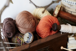 Coloured yarn